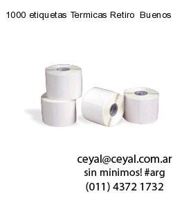 1000 etiquetas Termicas Retiro  Buenos Aires