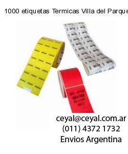 1000 etiquetas Termicas Villa del Parque