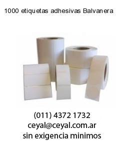 1000 etiquetas adhesivas Balvanera