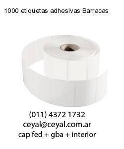 1000 etiquetas adhesivas Barracas