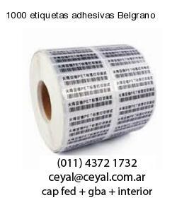 1000 etiquetas adhesivas Belgrano