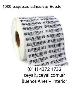 1000 etiquetas adhesivas Boedo