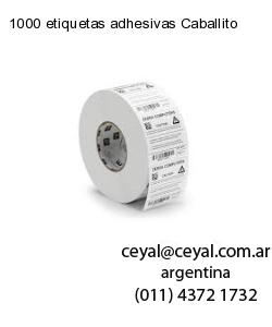1000 etiquetas adhesivas Caballito