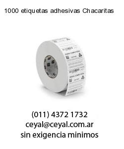 1000 etiquetas adhesivas Chacaritas