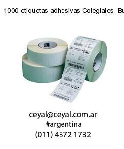 1000 etiquetas adhesivas Colegiales  Buenos Aires