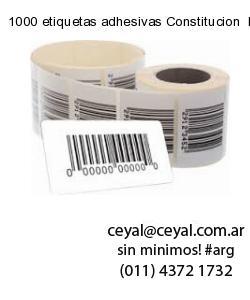 1000 etiquetas adhesivas Constitucion  Buenos Aires