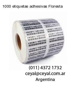 1000 etiquetas adhesivas Floresta