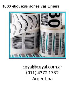 1000 etiquetas adhesivas Liniers