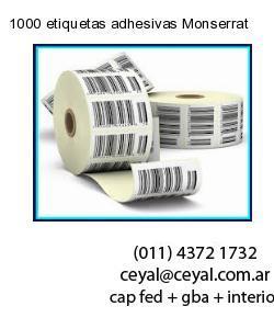 1000 etiquetas adhesivas Monserrat