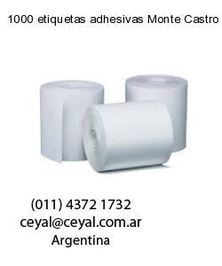 1000 etiquetas adhesivas Monte Castro
