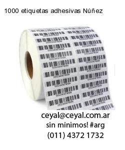1000 etiquetas adhesivas Núñez