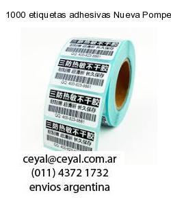 1000 etiquetas adhesivas Nueva Pompeya