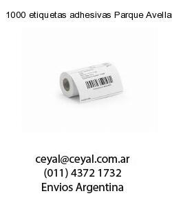 1000 etiquetas adhesivas Parque Avellaneda