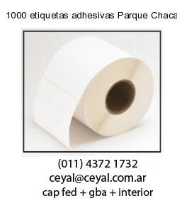 1000 etiquetas adhesivas Parque Chacabuco