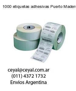 1000 etiquetas adhesivas Puerto Madero
