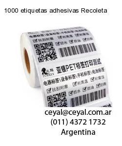 1000 etiquetas adhesivas Recoleta