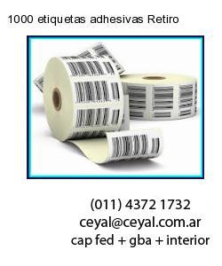 1000 etiquetas adhesivas Retiro