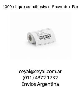 1000 etiquetas adhesivas Saavedra  Buenos Aires