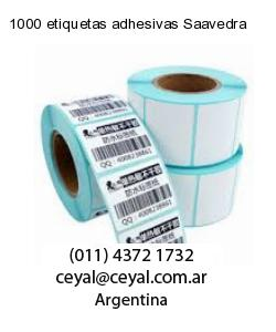 1000 etiquetas adhesivas Saavedra