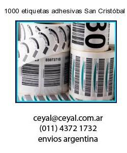 1000 etiquetas adhesivas San Cristóbal  Buenos Aires