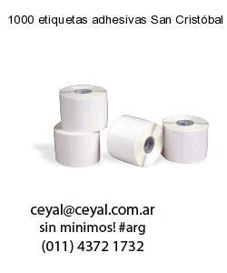 1000 etiquetas adhesivas San Cristóbal
