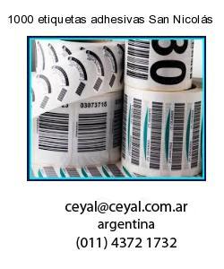 1000 etiquetas adhesivas San Nicolás