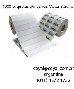 1000 etiquetas adhesivas Vélez Sársfield