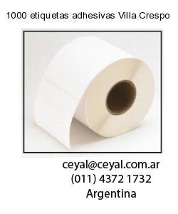 1000 etiquetas adhesivas Villa Crespo