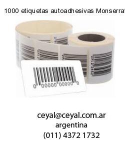 1000 etiquetas autoadhesivas Monserrat  Buenos Aires