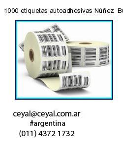 1000 etiquetas autoadhesivas Núñez  Buenos Aires