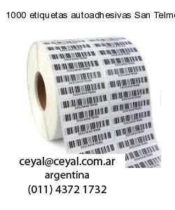 1000 etiquetas autoadhesivas San Telmo  Buenos Aires