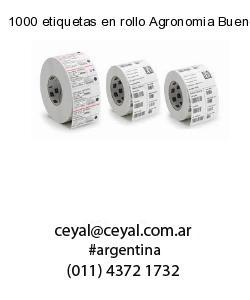 1000 etiquetas en rollo Agronomia Buenos Aires