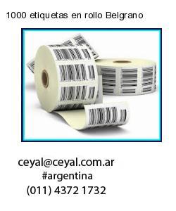 1000 etiquetas en rollo Belgrano