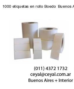 1000 etiquetas en rollo Boedo  Buenos Aires