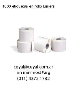 1000 etiquetas en rollo Liniers