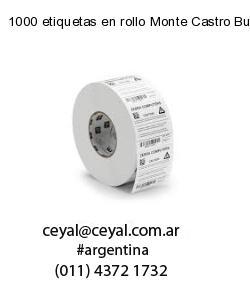 1000 etiquetas en rollo Monte Castro Buenos Aires