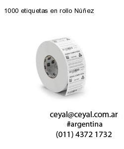 1000 etiquetas en rollo Núñez