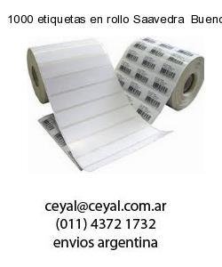1000 etiquetas en rollo Saavedra  Buenos Aires