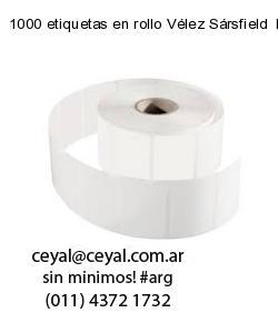 1000 etiquetas en rollo Vélez Sársfield  Buenos Aires