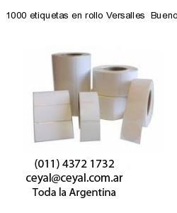 1000 etiquetas en rollo Versalles  Buenos Aires