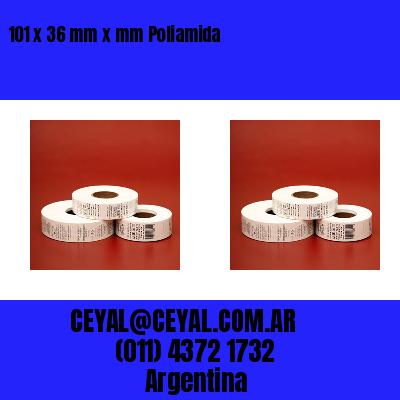 101 x 36 mm x mm Poliamida