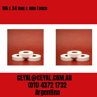 106 x 34 mm x mm Fasco