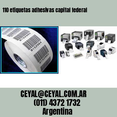 110 etiquetas adhesivas capital federal