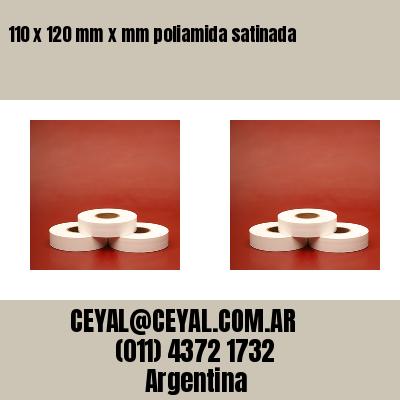 110 x 120 mm x mm poliamida satinada