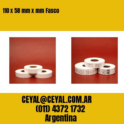 110 x 58 mm x mm Fasco