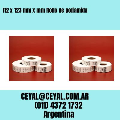 112 x 123 mm x mm Rollo de poliamida