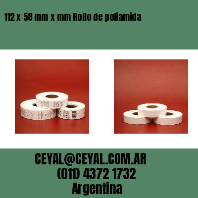 112 x 58 mm x mm Rollo de poliamida