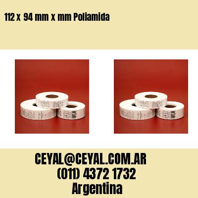 112 x 94 mm x mm Poliamida