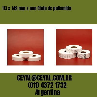 113 x 142 mm x mm Cinta de poliamida