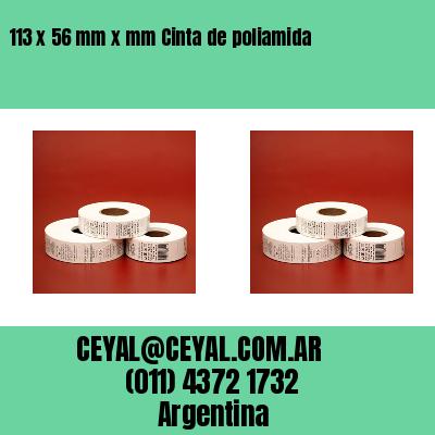 113 x 56 mm x mm Cinta de poliamida